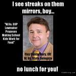 Ray Canterbury WV Delegate wants kids to work for school lunches