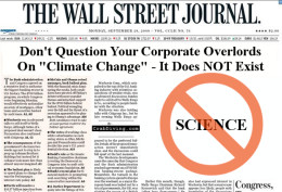 Wall Street Journal denies climate change