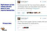 Christine Byers Michael Brown police sources tweet