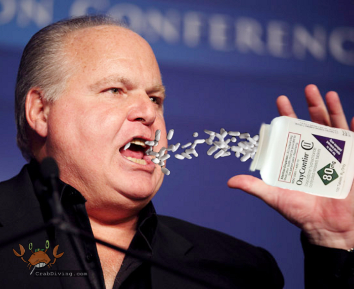 Rush Limbaugh oxycontin eating - crabdiving