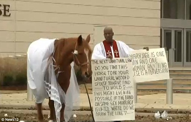 anti gay pastor and horse