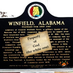 Winfield Alabama declares God owns it - CrabDiving