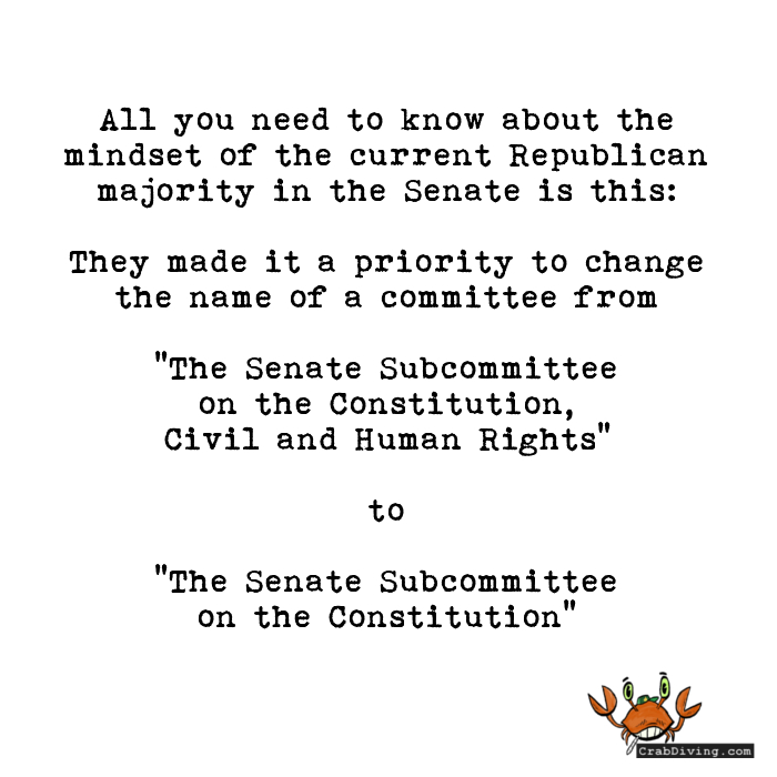 senate committee name change - crabdiving