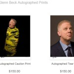 Glenn Beck autographed prints