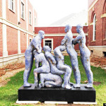 Mark Chatterly sculpture town called Orgy Statue