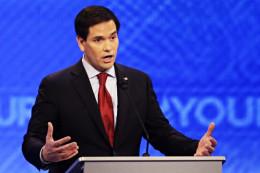 Rubio chokes GOP Debate