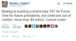 trump tweet boeing