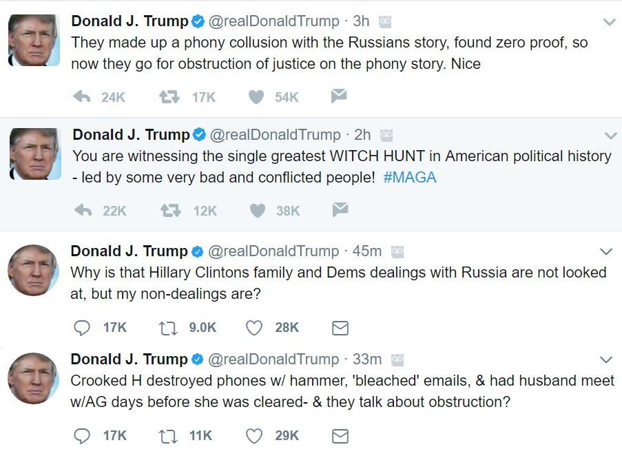 Trump Obstruction Investigation