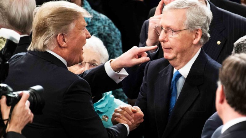 trump attacks mcconnell
