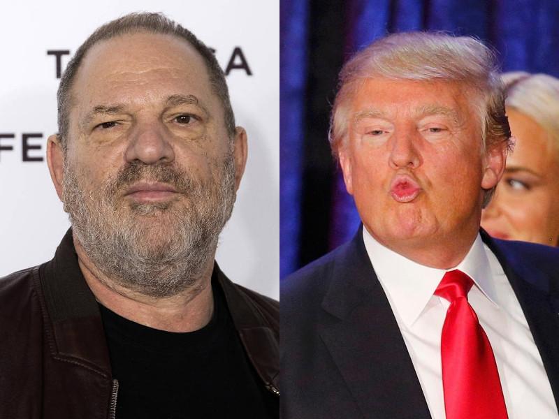 rapey rich guys Weinstein Trump